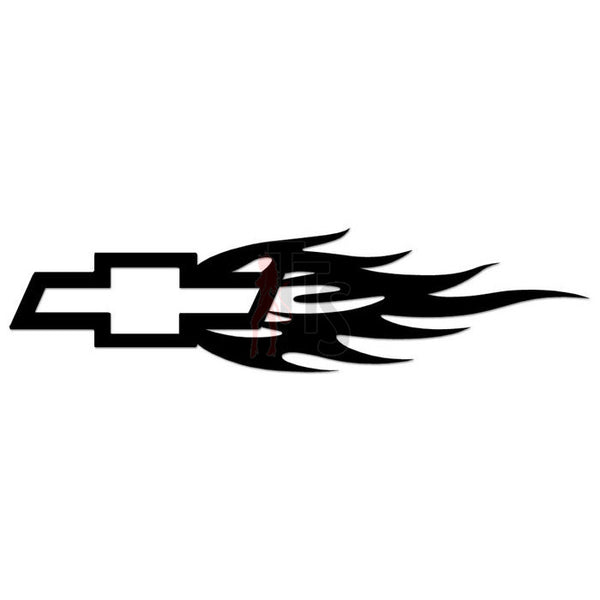 Chevy Bow Tie Flame Performance Racing Decal Sticker Style 3