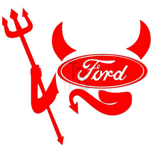 Ford Devil Performance Racing Decal Sticker
