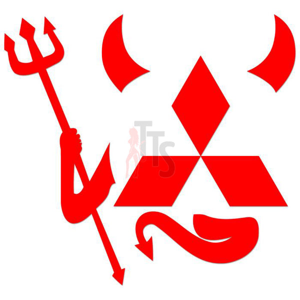 Mitsubishi Devil Performance Racing Decal Sticker