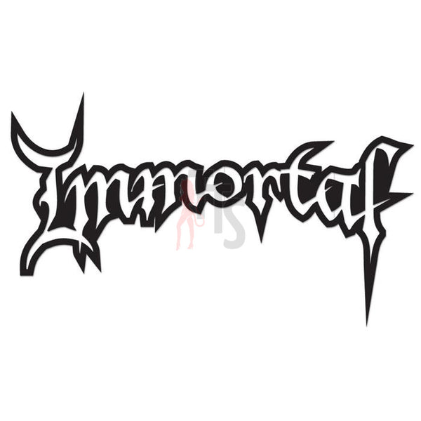 Immortal Music Rock Band Decal Sticker