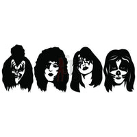 Kiss Members Music Rock Band Decal Sticker