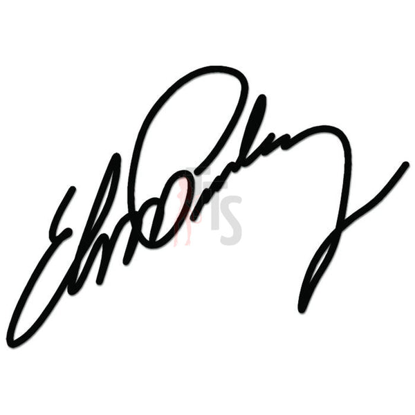 Elvis Presley Signature Music Rock Band Decal Sticker