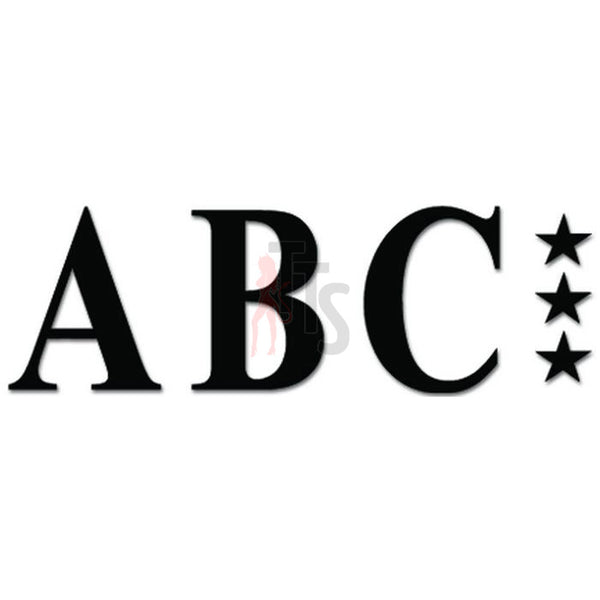 ABC Metal Music Rock Band Decal Sticker