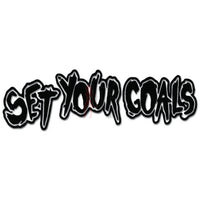 Set Your Goals Music Rock Band Decal Sticker