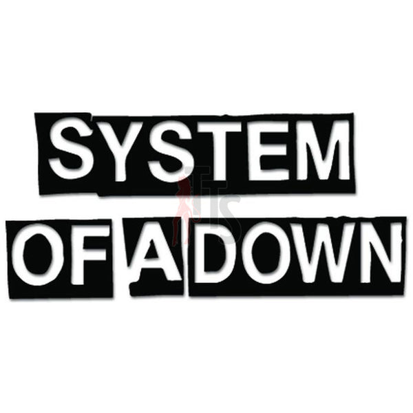System Of A Down Music Rock Band Decal Sticker
