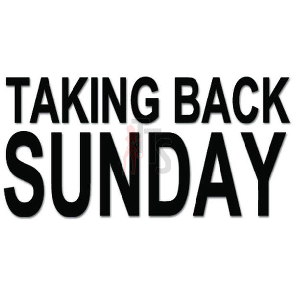 Taking Back Sunday Music Rock Band Decal Sticker
