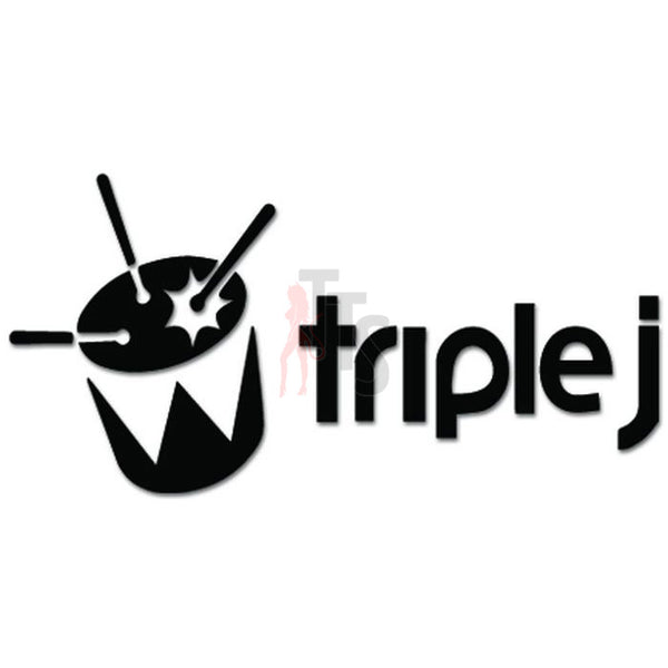 Triple J Music Rock Band Decal Sticker