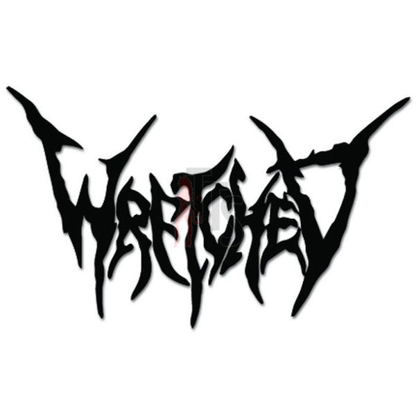 Wretched Music Rock Band Decal Sticker