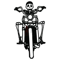 Biker Skull Decal Sticker Style 2