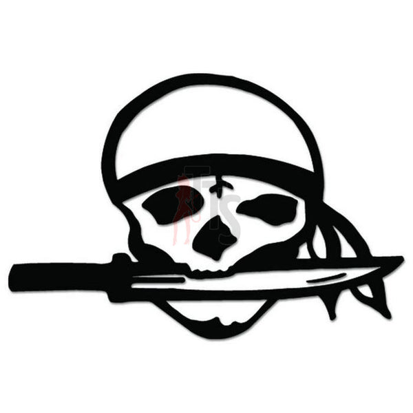 Biker Death Skull Decal Sticker Style 3