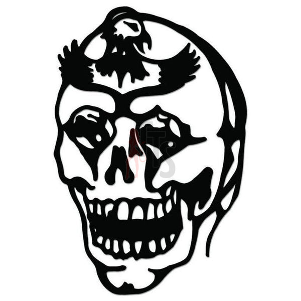 Biker Death Skull Decal Sticker Style 2