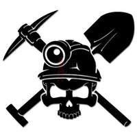 Death Skull Axe Shovel Coal Miner Decal Sticker