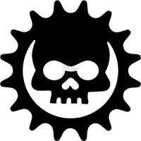 Death Skull Cog Gears Of War Decal Sticker