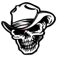 Death Skull Cowboy Decal Sticker Style 1