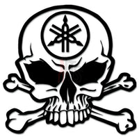 Death Skull Crossbones Yamaha Racing Decal Sticker