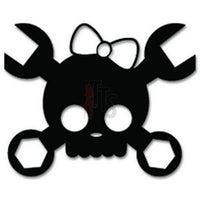 Cute Skull Bow Tie Wrench Decal Sticker