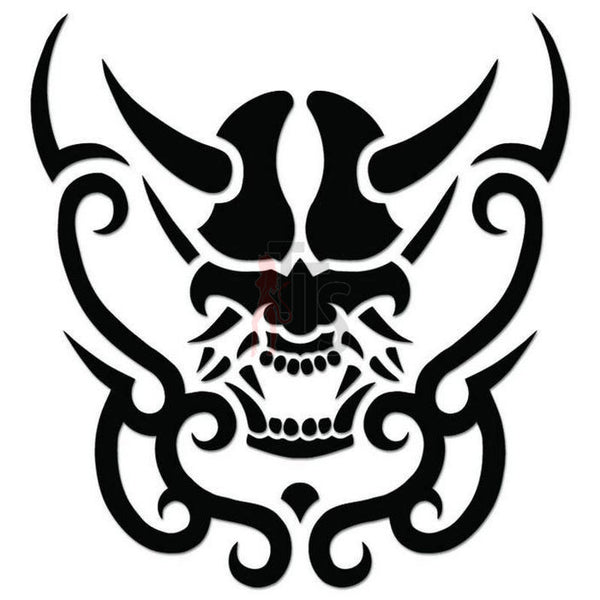 Death Skull Decal Sticker Style 6