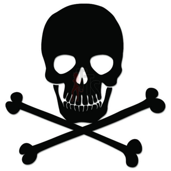 Death Skull Crossbones Decal Sticker Style 3