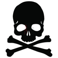 Death Skull Crossbones Decal Sticker Style 4