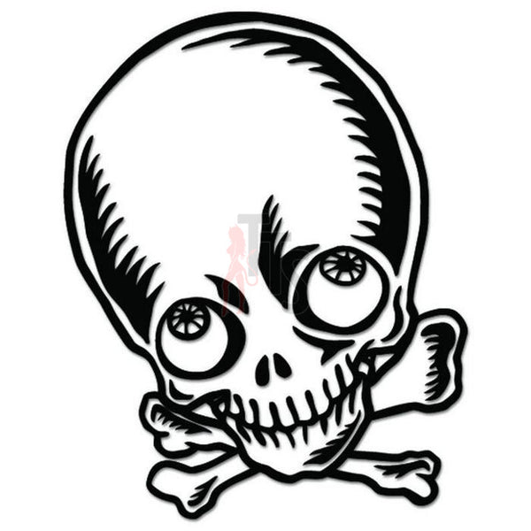 Death Skull Crossbones Decal Sticker Style 6