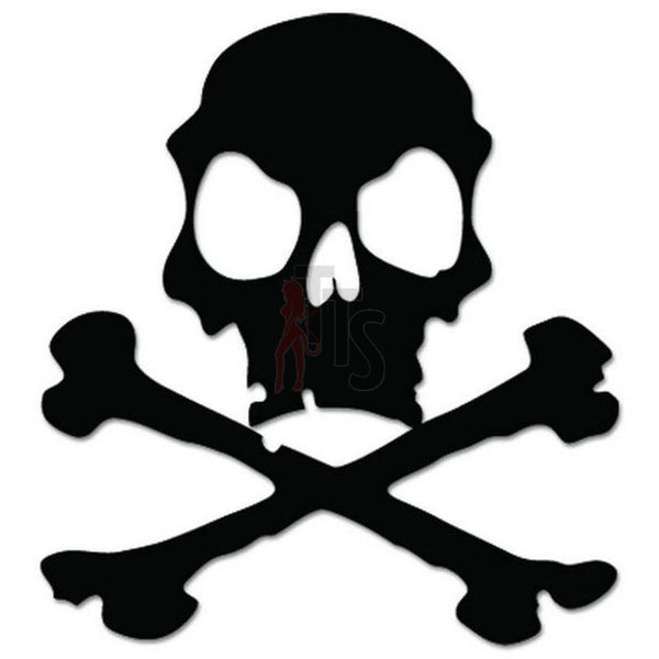 Death Skull Crossbones Decal Sticker Style 7