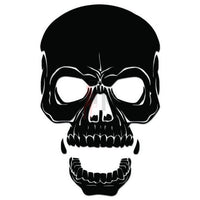 Death Skull Decal Sticker Style 2