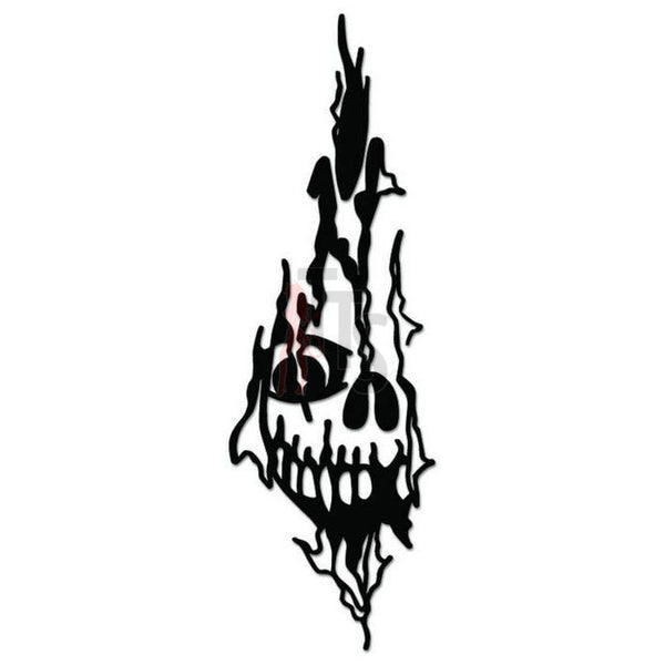 Death Skull Decal Sticker Style 3