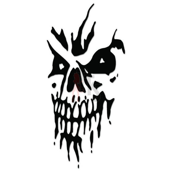 Death Skull Decal Sticker Style 4