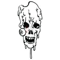 Death Skull Decal Sticker Style 5