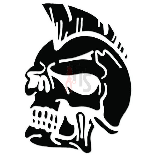 Death Skull Mohawk Decal Sticker