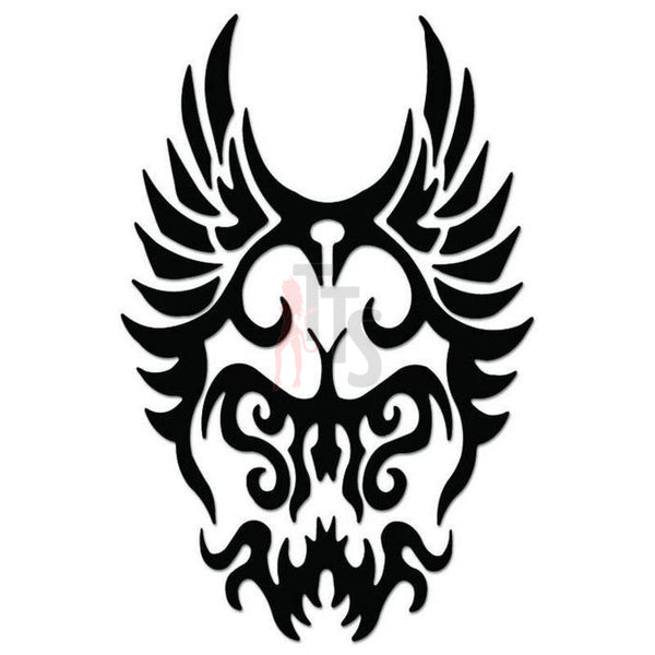 Death Skull Tribal Art Decal Sticker Style 2
