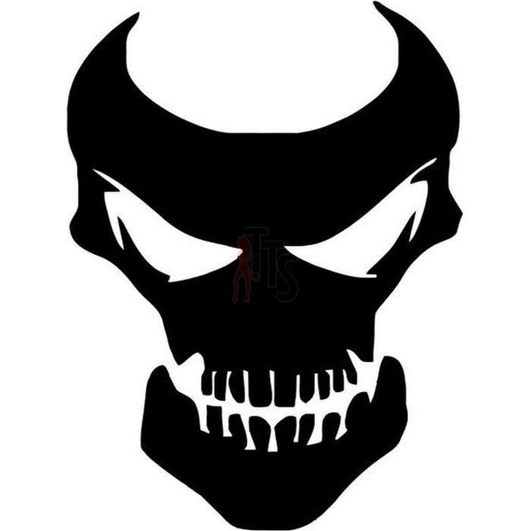 Death Skull Evil Mask Decal Sticker