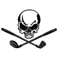 Death Skull Golf Golfing Decal Sticker