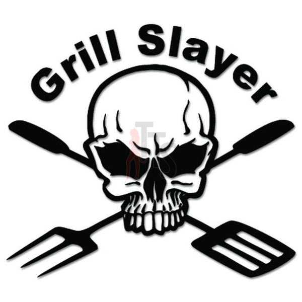Death Skull Grill Slayer BBQ Decal Sticker