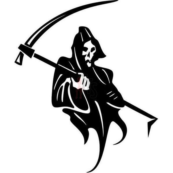 Death Skull Grim Reaper Decal Sticker Style 1