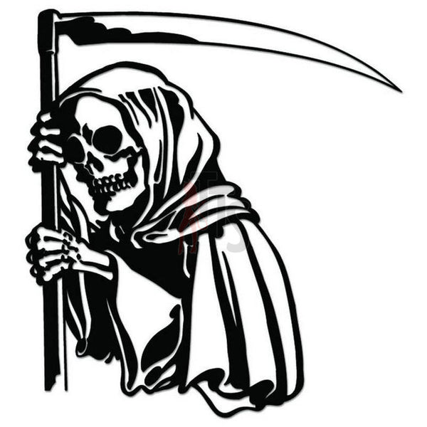 Death Skull Grim Reaper Decal Sticker Style 3