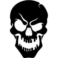 Death Skull Decal Sticker Style 12