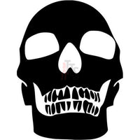 Death Skull Decal Sticker Style 13