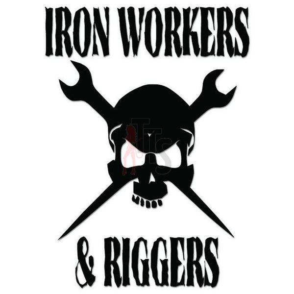 Death Skull Iron Workers Riggers Decal Sticker