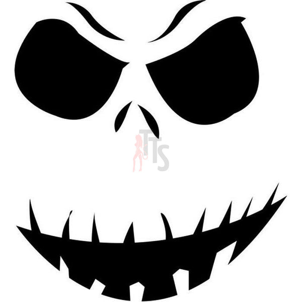 Death Skull Jack Skellington Decal Sticker Style 2