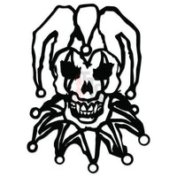 Death Skull Jester Decal Sticker