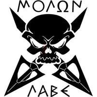 Death Skull Molon Labe Spartan Decal Sticker