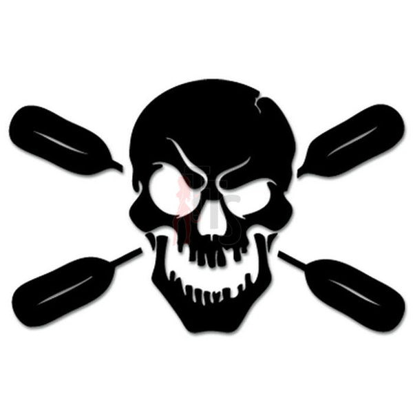 Death Skull Oars Boating Rowing Decal Sticker