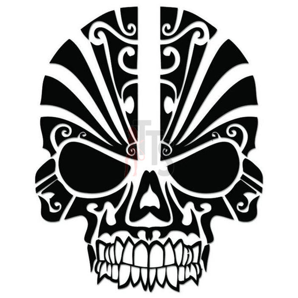 Death Skull Painted Mask Decal Sticker Style 1