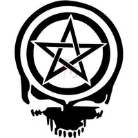 Death Skull Pentacle Wiccan Pagan Decal Sticker