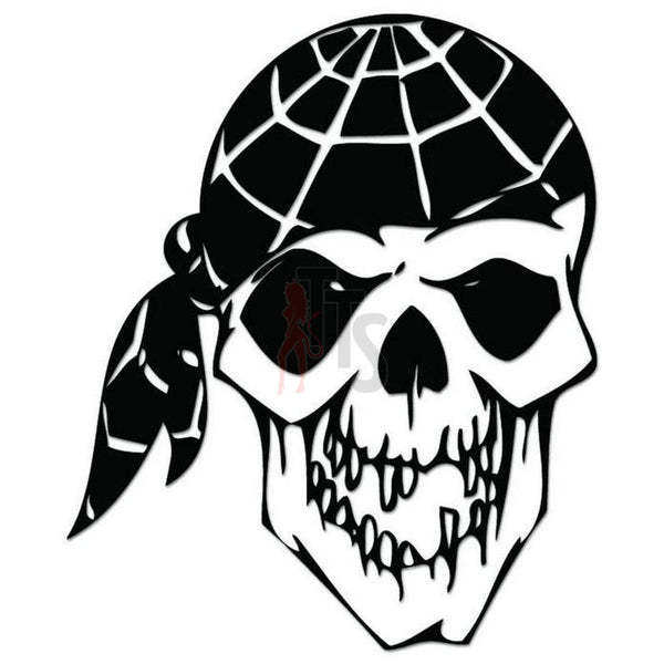 Death Skull Pirate Decal Sticker
