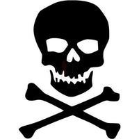 Death Skull Crossbones Pirate Jolly Roger Decal Sticker