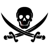 Death Skull Crossed Swords Pirate Decal Sticker