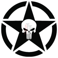 Death Skull Punisher Pentagram Decal Sticker