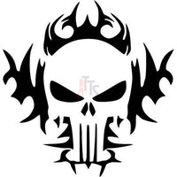 Death Skull Punisher Fire Flame Tribal Art Decal Sticker